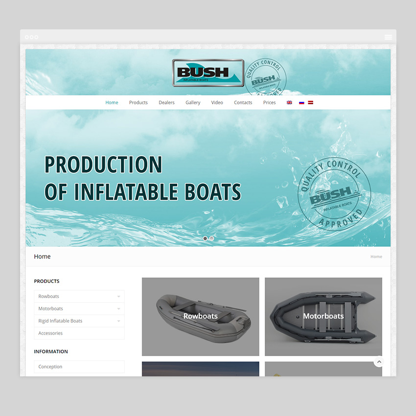 bushboats - Разработка сайтов на Wordpress