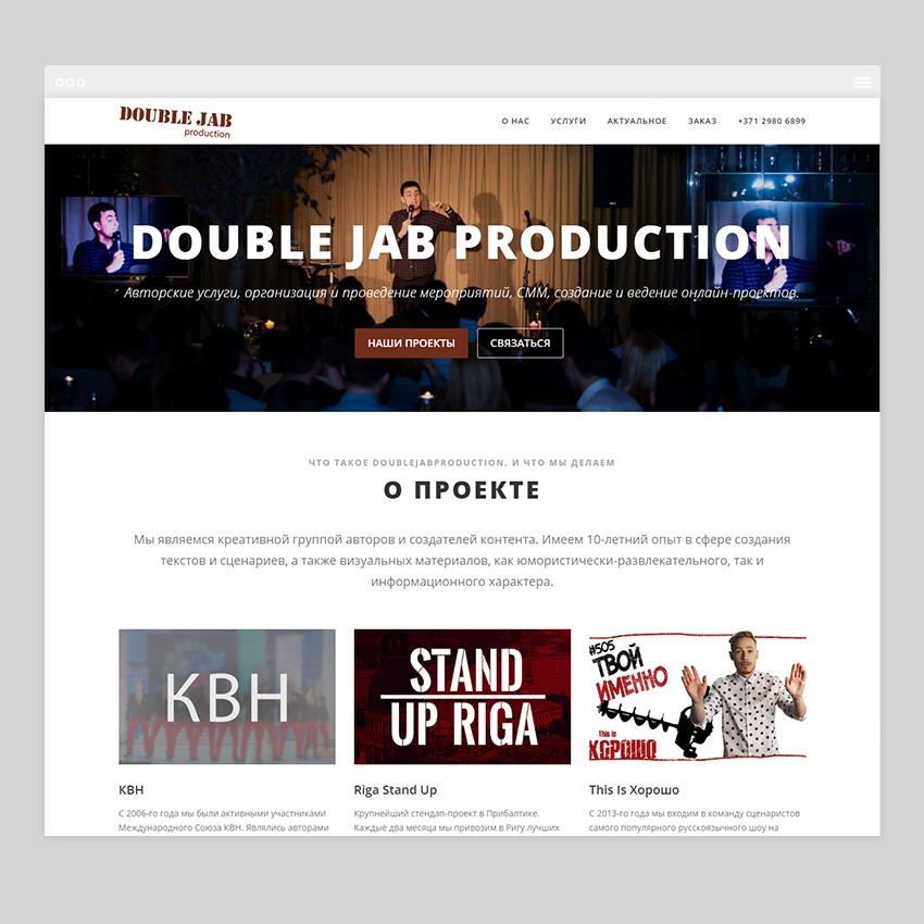 doublejabproduction - Разработка сайтов на Wordpress