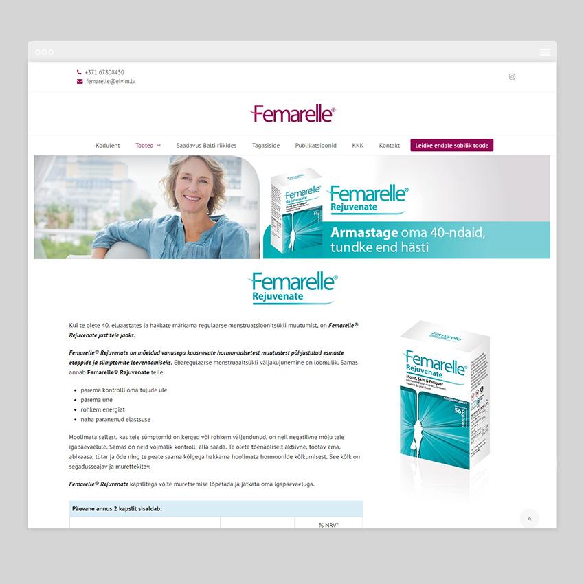 femarelle.ee  - Разработка сайтов на Wordpress