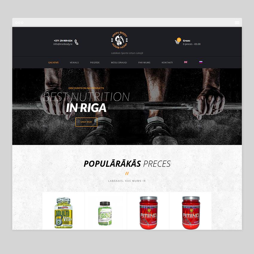 ironbody - Разработка сайтов на Wordpress