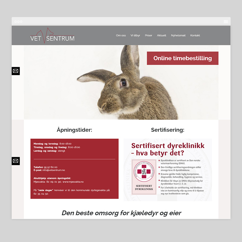 vetsentrum.no  - Разработка сайтов на Wordpress