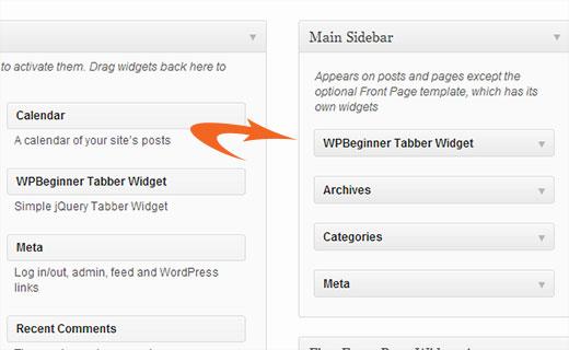 tabber widget wordpress - Как добавить виджет с закладками в WordPress