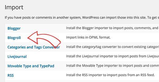blogroll-importer