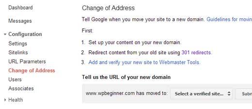 changeofaddresswt - Как правильно перенести WordPress на новый домен без потери SEO