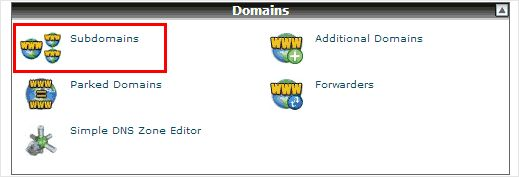 cpanel-subdomains
