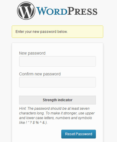 enter-new-password-wordpress
