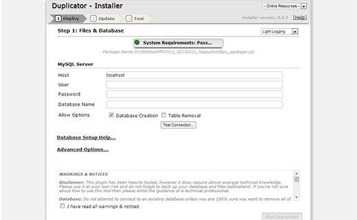 install duplicate - Как правильно перенести WordPress на новый домен без потери SEO