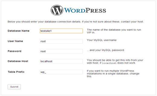 mamp-wp-database