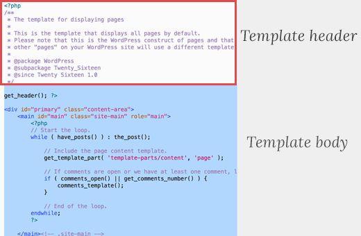 templateheader - Как создать пользовательскую страницу в WordPress