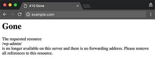 410gone - Как навсегда удалить сайт на Wordpress из Интернета?