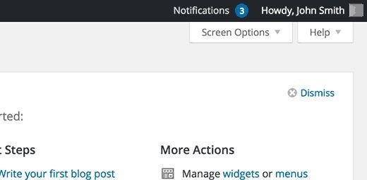 notifications center - Как добавить свои администраторские уведомления в Wordpress