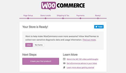 woosetupfinished - Как открыть интернет-магазин: пошаговое руководство