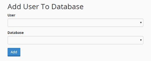 addusertodb - Как восстановить сайт Wordpress одной лишь копией баз данных