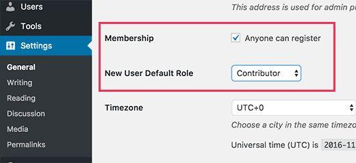 allowregistration - Как разрешить пользователям публиковать свои посты на сайте Wordpress