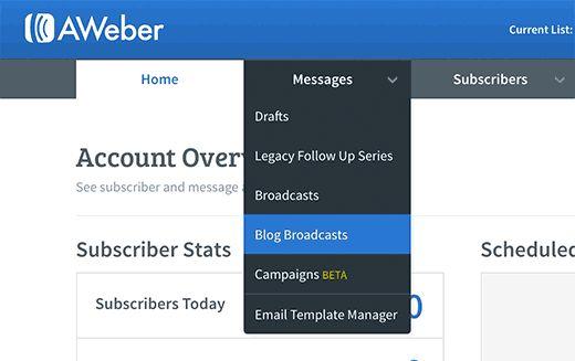 aweber blogbroadcasts - Полная инструкция как подсоединить Aweber к Wordpress