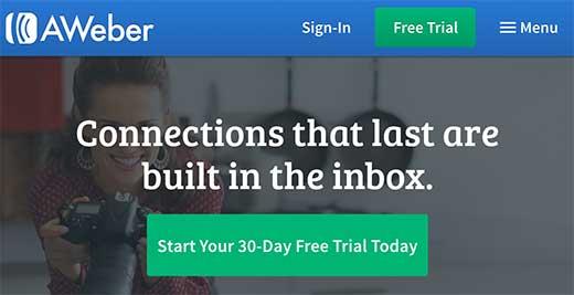 aweber signup - Полная инструкция как подсоединить Aweber к Wordpress