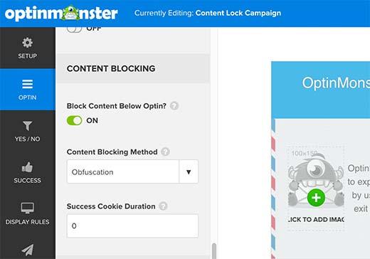 contentblockoptions - Как спрятать под замок контент сайта