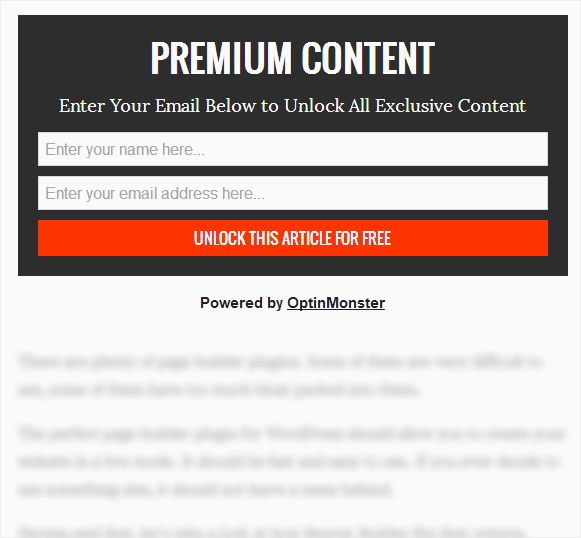 contentlockexample - Как спрятать под замок контент сайта