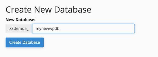 createnewdb - Как восстановить сайт Wordpress одной лишь копией баз данных