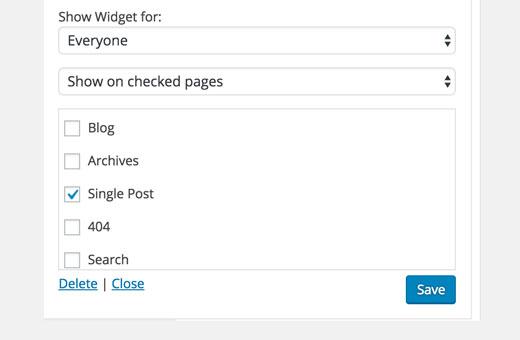 displaywidgetrules - Как дать пользователям подписываться на авторов в Wordpress?