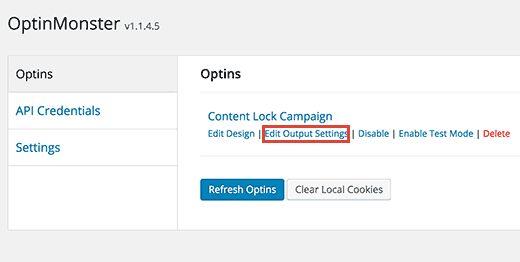 editoptinoutput - Как спрятать под замок контент сайта