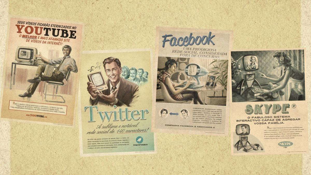 Youtube, Facebook, Twitter, Skype