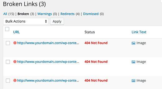 findmissingimages - Как восстановить сайт Wordpress одной лишь копией баз данных