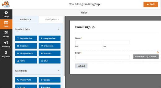 formbuilder 1 - Полная инструкция как подсоединить Aweber к Wordpress