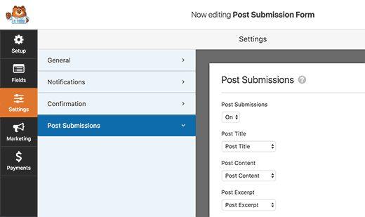 formsettings - Как разрешить пользователям публиковать свои посты на сайте Wordpress