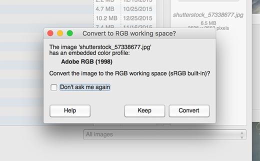 gimp convertcolorspace - Как избежать потери цвета и насыщенности изображений в Wordpress
