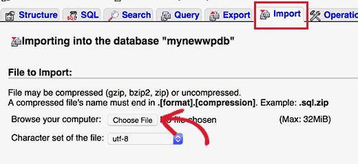 importdb - Как восстановить сайт Wordpress одной лишь копией баз данных