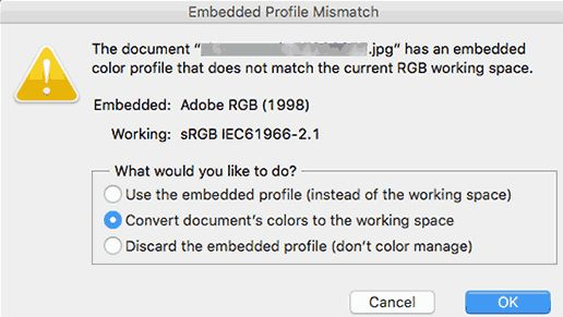 mismatchcolorprofile - Как избежать потери цвета и насыщенности изображений в Wordpress