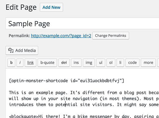 optinmonstershortcode - Как спрятать под замок контент сайта