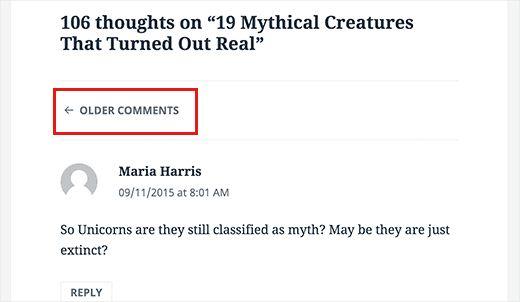 paiginated comments - 18 полезных трюков как ускорить свой сайт на Wordpress