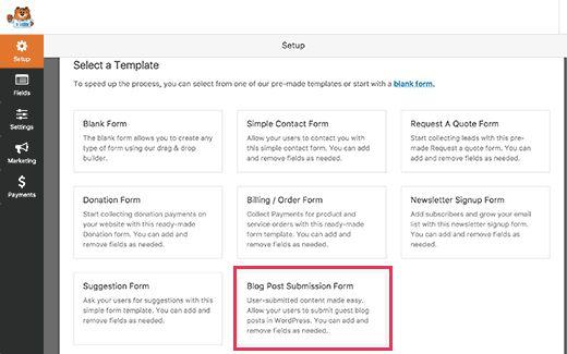postsubmissiontemp - Как разрешить пользователям публиковать свои посты на сайте Wordpress