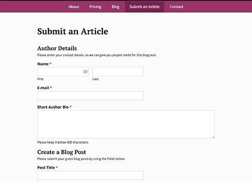 previewform - Как разрешить пользователям публиковать свои посты на сайте Wordpress