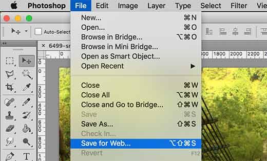 saveforweb ps 1 - Как избежать потери цвета и насыщенности изображений в Wordpress