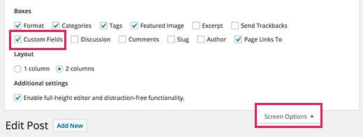 screenoptions - Как использовать внешние ссылки в заголовках постов в Wordpress