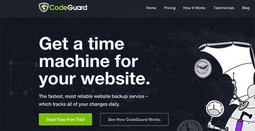 signupbutton - Как настроить автоматический бэкап с помощью Codeguard