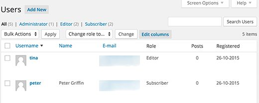 userstable - Как отображать дату регистрации в Wordpress