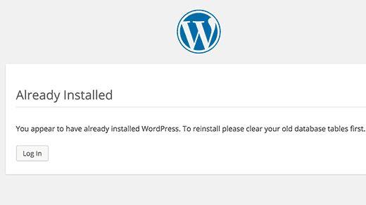 wpalreadyinstalled - Как восстановить сайт Wordpress одной лишь копией баз данных