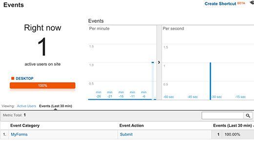 event reporting - Как добавить отслеживание событий в Google Analytics