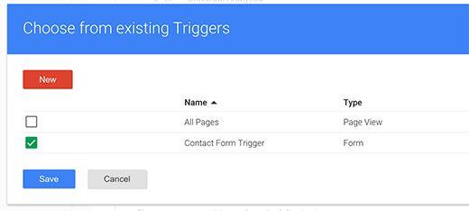gtm choose trigger - Как добавить отслеживание событий в Google Analytics