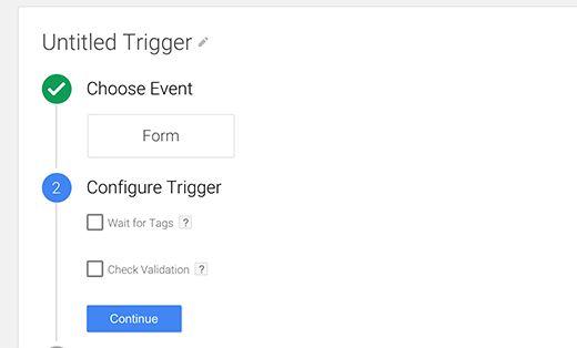 gtm configuretrigger - Как добавить отслеживание событий в Google Analytics