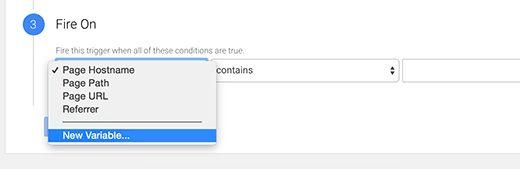 gtm fireon filter - Как добавить отслеживание событий в Google Analytics