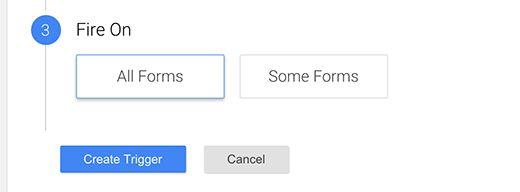 gtm trigger fireon - Как добавить отслеживание событий в Google Analytics