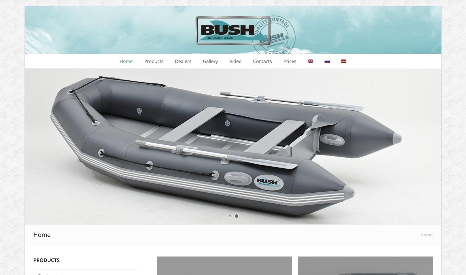 Корпоративный сайт для производителя лодок