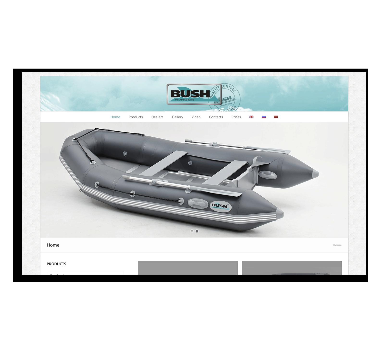 Разработка сайта для производителя лодок