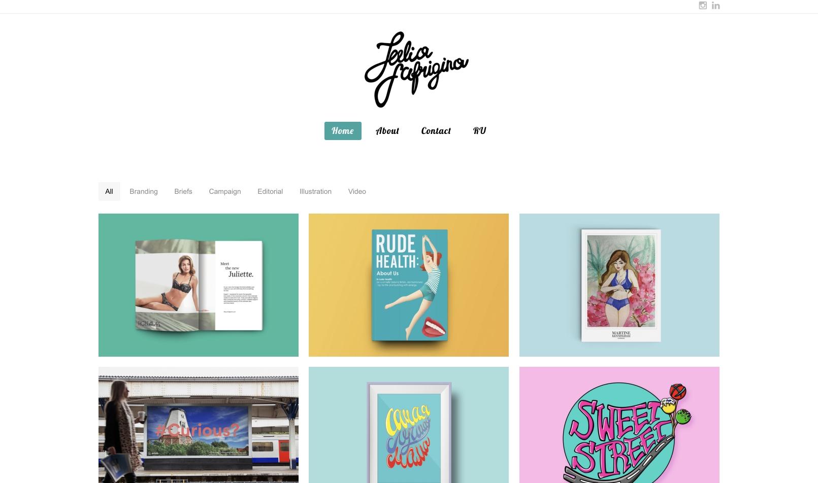 Разработка сайта для графического дизайнера Юлии Сафрыгиной