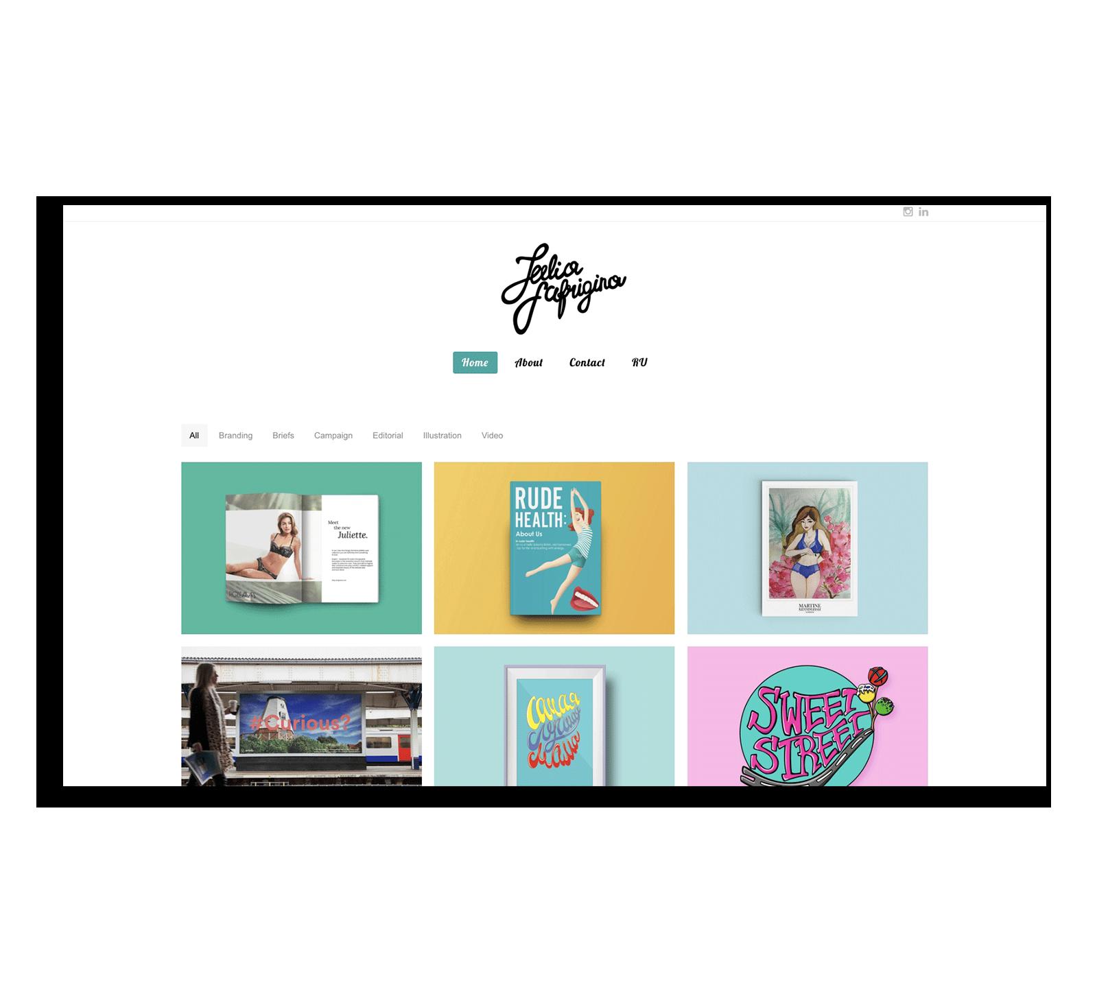 Создание корпоративного сайта на WordPress для графического дизайнера